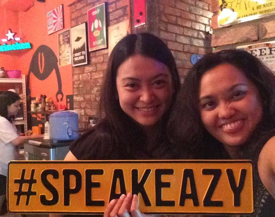 Speak Eazy - The Alternative Bar/Bistro: Jac & MM at Speakeasy on Mac's Bday!