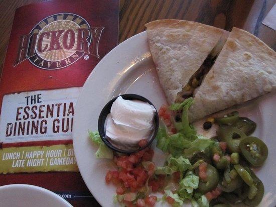 Hickory Tavern: pulled pork quesadillas