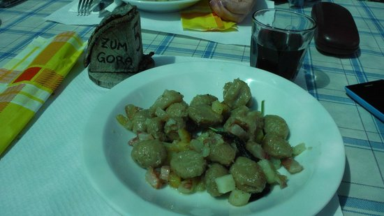 Rifugio Zum Gora : gnocchi walser