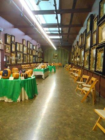Merrick Art Gallery: pumpkins on display