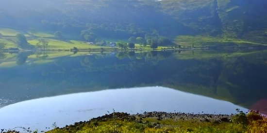 Wastwater Lake : Early morning toward Scafell