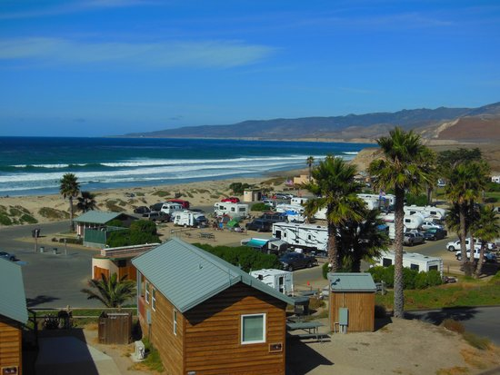 Jalama Beach County Park : Overlooking the camping and cabin area