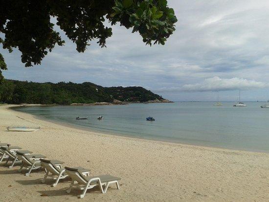 P.S. Villa: plage vue du restaurant
