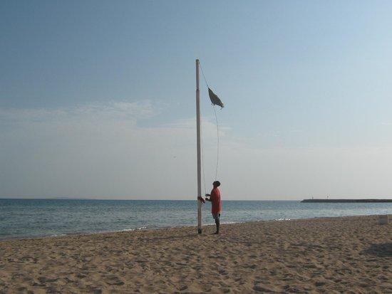 Golden 5 Diamond Resort : замена флажка на пляже
