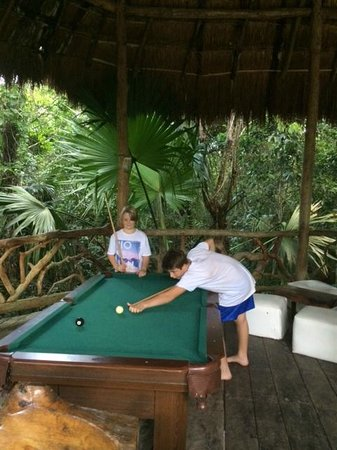 Jolie Jungle: Playing pool in the club house