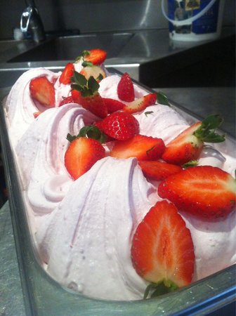 In the Pink: Fresh Strawberry Gelato (made from local farmers market strawberries)