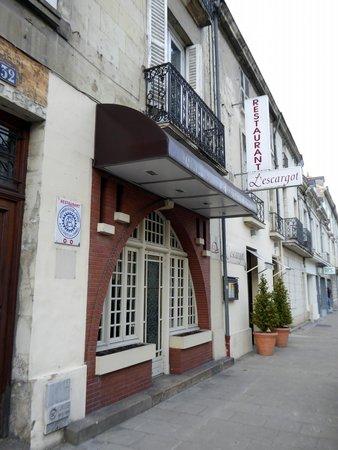 La façade du restaurant l'Escargot à Saumur