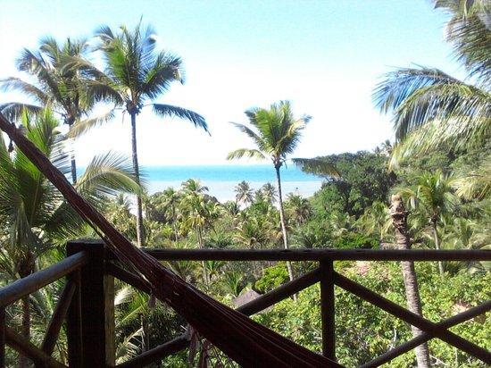 Bossa Nova Itacaré Eco Resort : vista deslumbrantre da suíte mas tem que subir a ladeira...