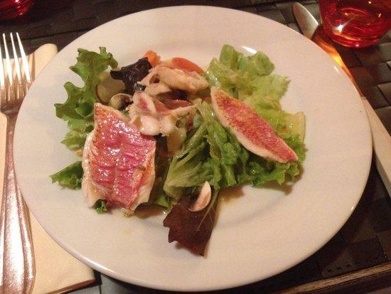 La Table a Deniz: En entrée : filets de rougets