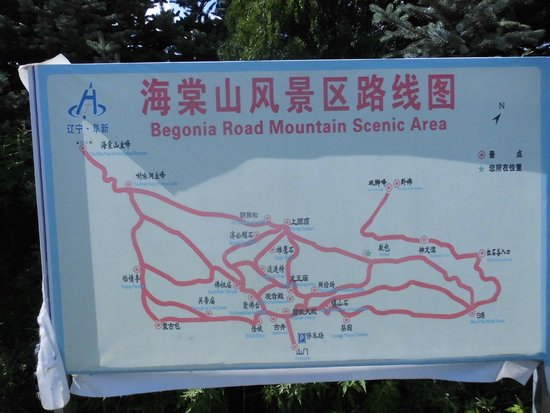 Fuxin County, China: Signboard