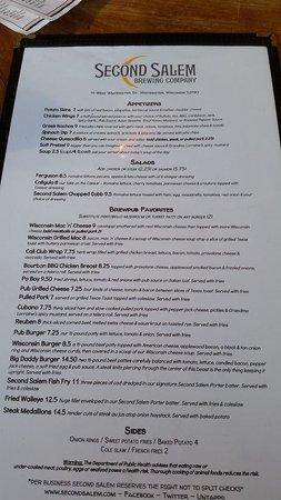 Lakefront Pub: Take a look at the menu