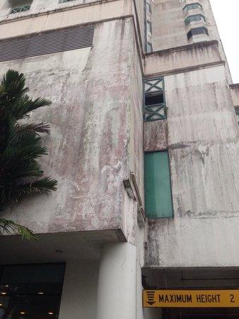 Likas Square Apartment Hotel: Above hotel's main entrance