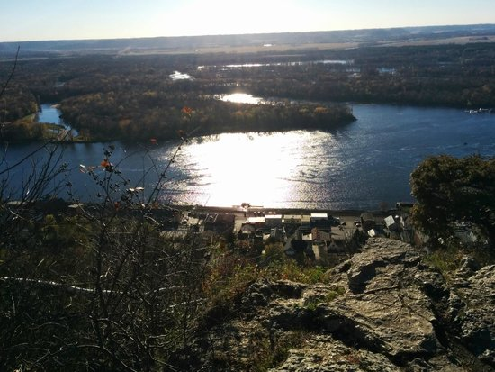The view from Buena Vista Park in Alma, Wisconsin