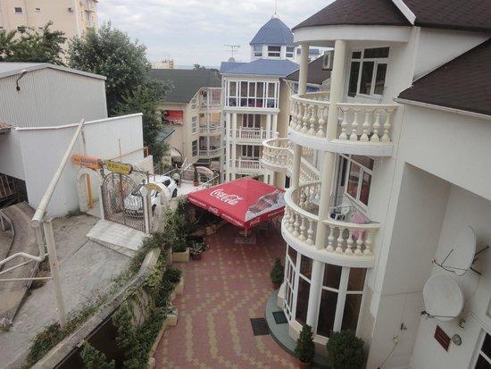In the Arctic Hotel: Вид на территорию с нашего балкона.