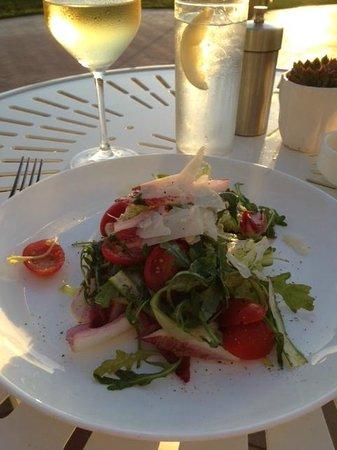 1500 OCEAN: chicory and arugula salad