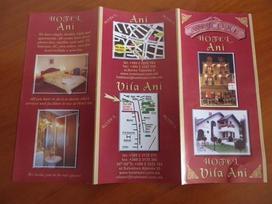 Hotel Ani : Brochure 1