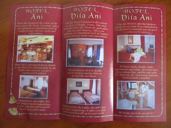 Hotel Ani : Brochure 2