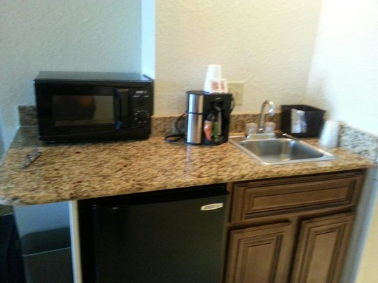 Amelia Hotel at the Beach : microwave and fridge
