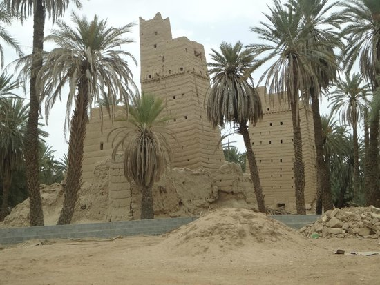 Nedjran, Saudi-Arabia: Traditional mud-constructed houses