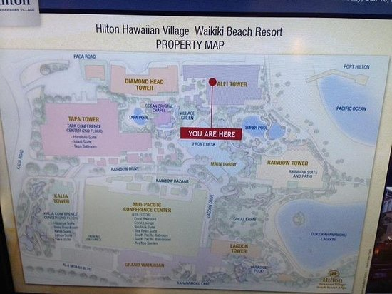 Hilton Hawaiian Village Waikiki Beach Resort ホテルmap