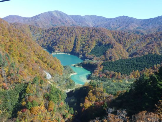 Naeba: ゴンドラからみた田代湖