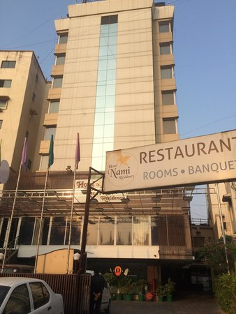 Hotel Nami Residency: Hotel front though narrow but good interiors.