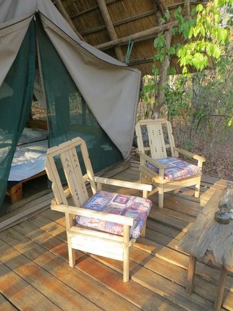 Bua River Lodge: Our balcony outside the tent