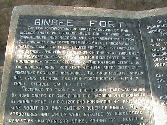 Gingee, Ấn Độ: Historical Details