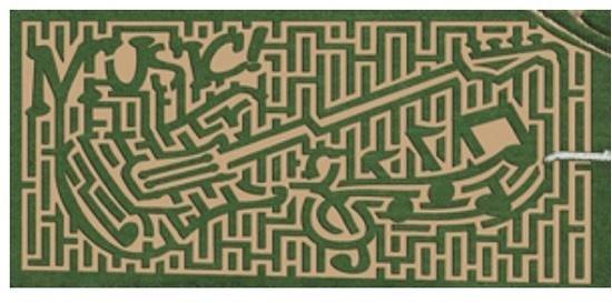 Cherry Crest Adventure Farm: 2014 Maze