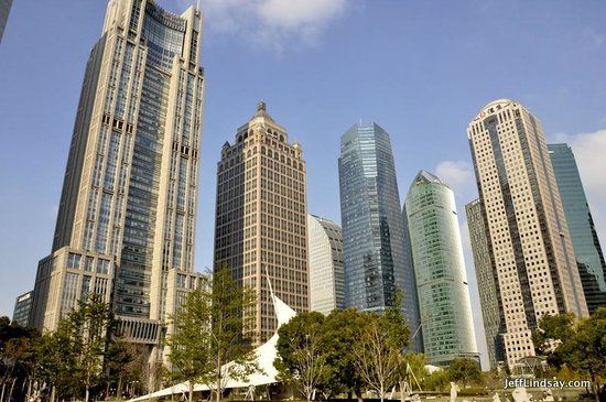Lujiazui Central Greenland: Towers around the park