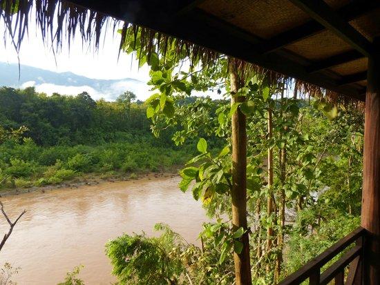 Lao Spirit Resort: Blick von der Veranda auf den Nam Khan