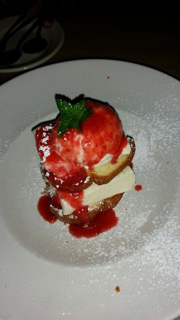 Fish Thyme: Toasted Strawberry Shortcake! It was huge! We shared an order of this deliciousness & we were al