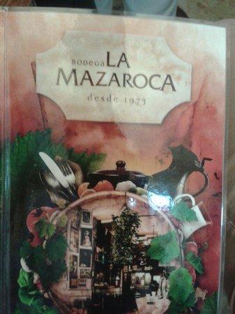 Bodega la Mazaroca: La carta
