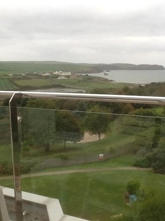 Thurlestone Hotel: view from the balcony of a second-floor sea-view room