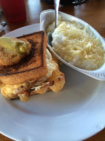 Pages Okra Grill: Page's Signature Fried Green Tomato, Pimento Cheese ...