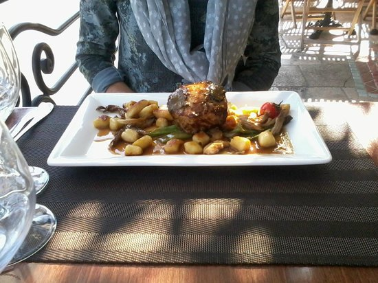 Le Vieux Moulin : Veal and gnocchi with truffle- just wonerdful!! - La Bergerie Oct 2014
