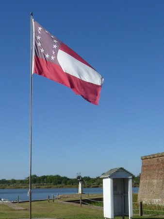 Old Fort Jackson: Stars and Bars (?)
