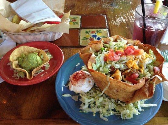 Mi Pueblo: Taco Salad with homemade Guacamole