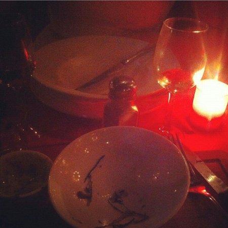 Cafe Charbon : Empty plates.