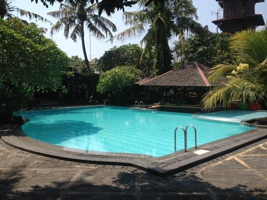 Dusun Jogja Village Inn : pool with the juice bar!!