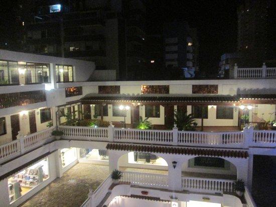 Las Rampas: View from 3rd floor towards courtyard