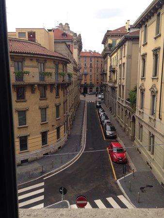 EuroHotel: Vista do quarto no segundo andar.