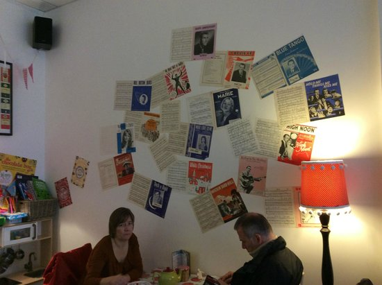 Mrs Green's Tea Lounge: One of the walls
