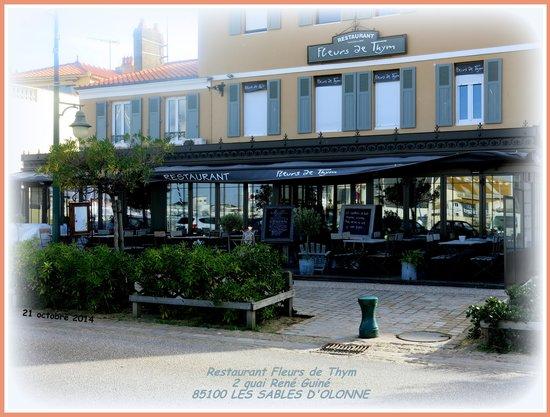 Le restaurant picture of fleurs de thym les sables d - Restaurant le port les sables d olonne ...