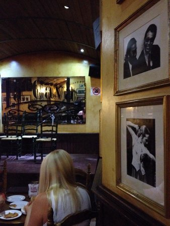 La Cava Taberna Flamenca: Before the show.