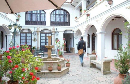 Hostal Sucre : pátio