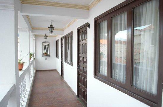 Hostal Sucre: entrada dos quartos