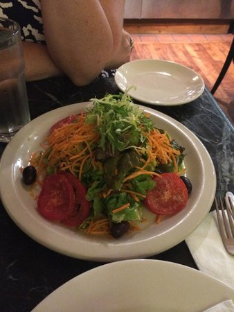 Angelo's Pizza: This is a 'small' side salad!