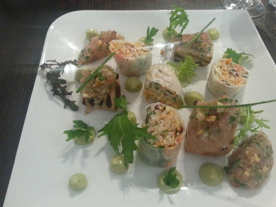 Bistrot Les Traditions : My tuna and spring roll plat