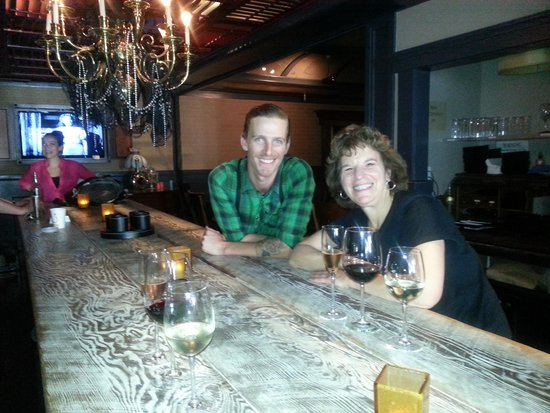 Gourmet Walks - Fun Foodie Tours: Enjoying a California wine flight — at Noir Lounge.